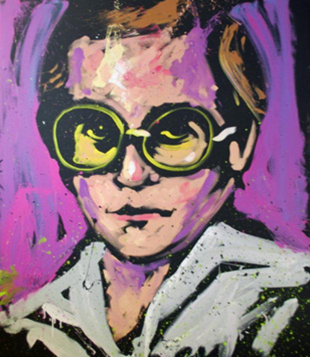 Image result for david garibaldi painting mick jagger