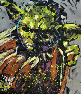 Yoda 2015 72x63 Star Wars Original Painting - David Garibaldi