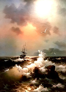 Untitled Seascape 25x19 Limited Edition Print - Eugene Garin