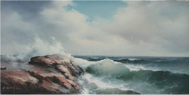 Untitled Seascape 1966 24x48 (Early)