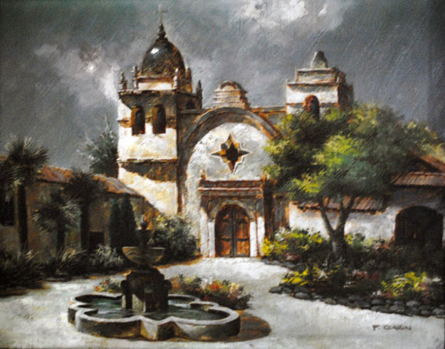 Carmel Mission California By Eugene Garin