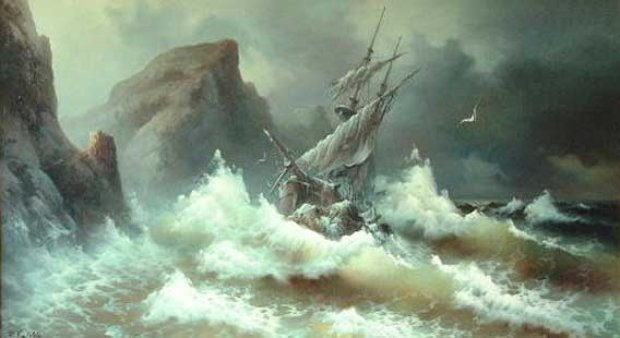 Rough Sea 1978 45x71
