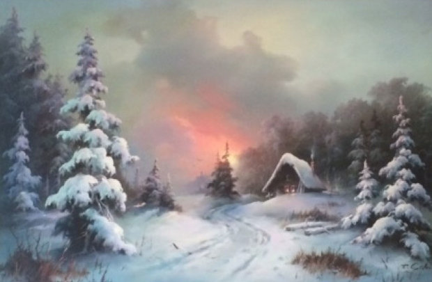 Cabin in the Snow 1970 46x34