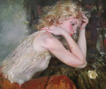 Silent Thoughts Embellished 2002 Limited Edition Print - Michael and Inessa  Garmash