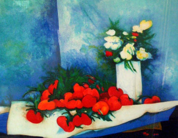 Flowers And Tomatoes Limited Edition Print - Claude Gaveau