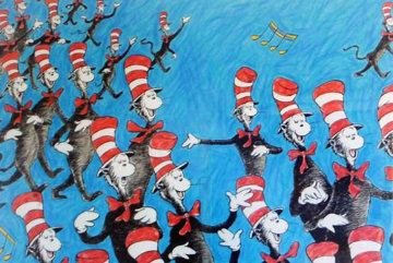 Singing Cats 1967 Limited Edition Print - Dr. Seuss