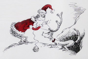If I Can't Find a Reindeer, I'll Make One Instead! 1998 Limited Edition Print - Dr. Seuss