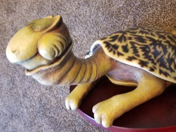 Turtle-Necked  Sea-Turtle Resin Sculpture 24 in Sculpture - Dr. Seuss