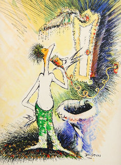 Self Portrait As a Young Man Shaving 1999 Limited Edition Print - Dr. Seuss