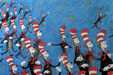 Singing Cats 2002 Limited Edition Print - Dr. Seuss