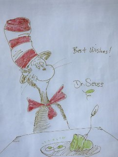 Cat in the Hat 1970 19x21 Works on Paper (not prints) - Dr. Seuss