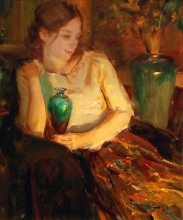 Laurel 2002 27x23 Original Painting - Daniel Gerhartz