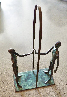 Mirror Bronze Sculpture 1999 34 in Sculpture - Dimitry Gerrman