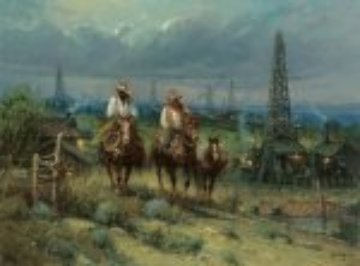 Oil Patch Cowhands 2007 Limited Edition Print - G. Harvey