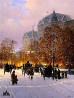 A Stroll on the Plaza 1998 Limited Edition Print - G. Harvey