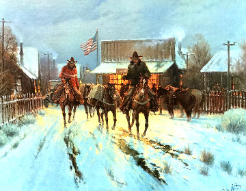 Trading at the General Store 1983 Limited Edition Print - G. Harvey