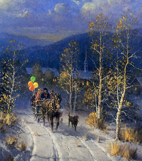 Jingle Bells And Powder Snow 1999 Limited Edition Print - G. Harvey