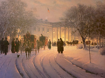 An Evening With the President AP 1990 Limited Edition Print - G. Harvey
