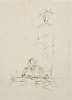 Artists Mother Reading III 1964 Limited Edition Print - Alberto Giacometti