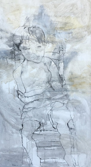 Seated Boy on Chair 1966 66x33