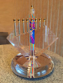Chanukah Acrylic Sculpture 18 in Sculpture - Yankel Ginzburg