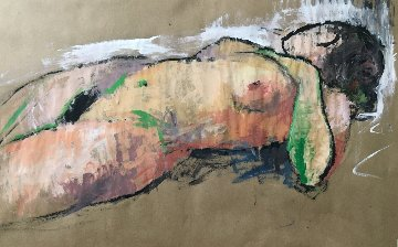 Reclining Woman 2012 24x36 Original Painting - Kamal Givian