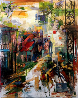 Southern City (New Orleans) 60x48 Original Painting - Kamal Givian