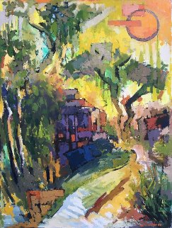 Summer Noon 36x27 Original Painting - Kamal Givian
