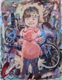 Mine And a Woman's Child 2017 54x40 Original Painting - David  Glynn