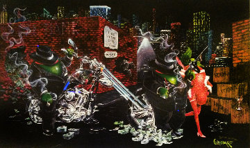 Gangster Chopper Featuring Al Capone 2007 Limited Edition Print - Michael Godard