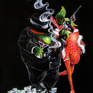 Gangster Love Embellished 2018 Limited Edition Print - Michael Godard