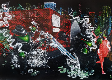 Gangster Chopper Master Highlight 2007 Embellished Limited Edition Print - Michael Godard