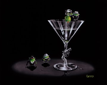 Gangster Martini (2 Shots and a Splash) 2005 Limited Edition Print - Michael Godard