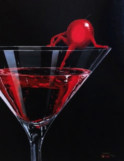 Cherry Cosmo Martini 2009 Limited Edition Print - Michael Godard