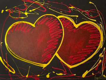 Hearts of Hope 2018  41x33 Original Painting - Michael Godard