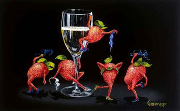 Strawberries Gone Wild 2006 Limited Edition Print - Michael Godard