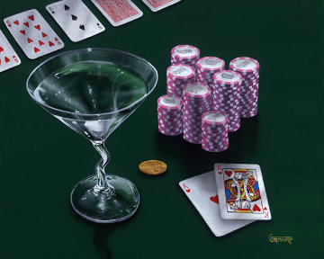 Poker Chips, Big Slick 2004 Limited Edition Print - Michael Godard