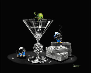Gangsta' Martini: Living Large 2004 Limited Edition Print - Michael Godard