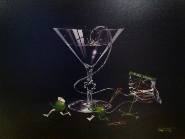 Nursing a Martini 2004 Limited Edition Print - Michael Godard