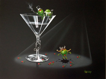 Opera Martini 2005 24x30 Original Painting - Michael Godard