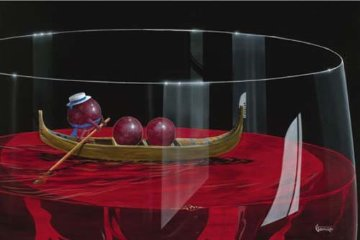 Gondola Grapes AP 2009 Limited Edition Print - Michael Godard