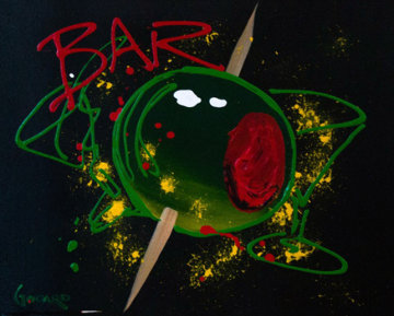 Bar 2008 (Olive) 24x30 Original Painting - Michael Godard