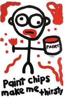 Paint Chips Make Me Thirsty Limited Edition Print - Todd Goldman