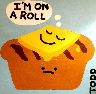 I\'m on a Roll 1980 24x24 Original Painting - Todd Goldman