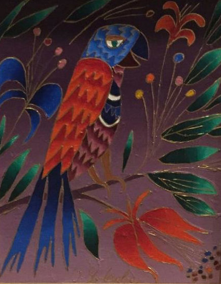 Parrot With Orange Wings 1996 8 X 10