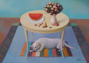 Fruits And Flowers 2017 20x28 Original Painting - Evgeni Gordiets