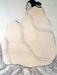 Lady in a Yellow Blanket 1977 Limited Edition Print - R.C. Gorman