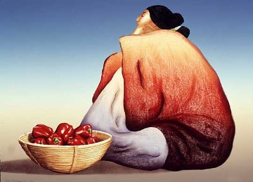 Red Peppers 1984 Limited Edition Print - R.C. Gorman