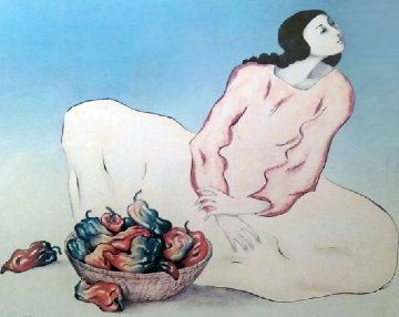 Pepper Lady AP 1982 Limited Edition Print - R.C. Gorman