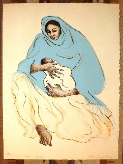 Mother And Child TP 1974 Limited Edition Print - R.C. Gorman